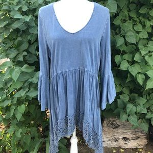 Indigo Thread Hippie Boho Tunic Top